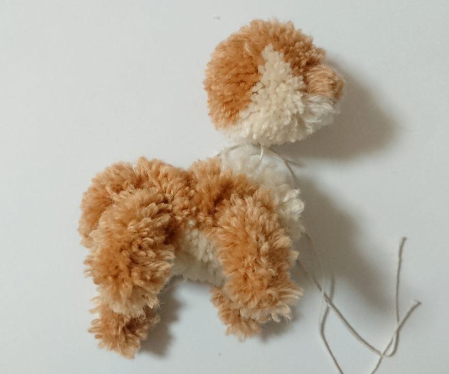 トナカイぽんぽん 頭と体の連結