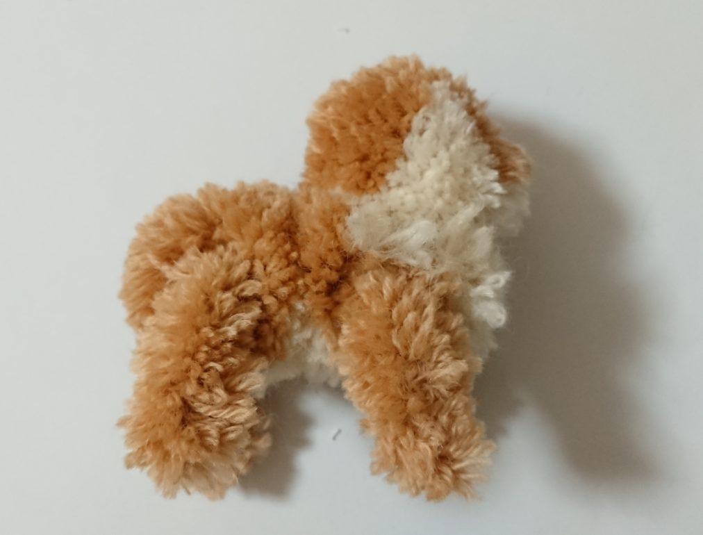 トナカイぽんぽん 頭と体の連結左側面