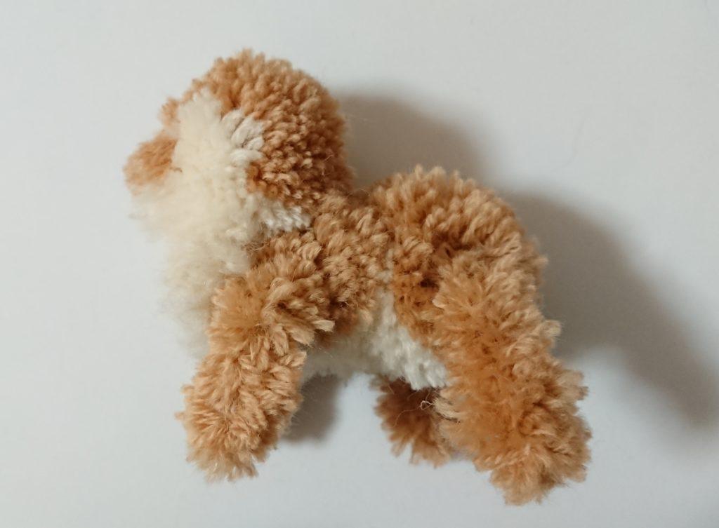 トナカイぽんぽん 頭と体連結右側面