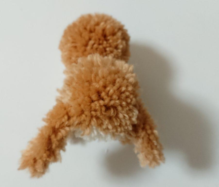 トナカイぽんぽん 頭と体の連結後面