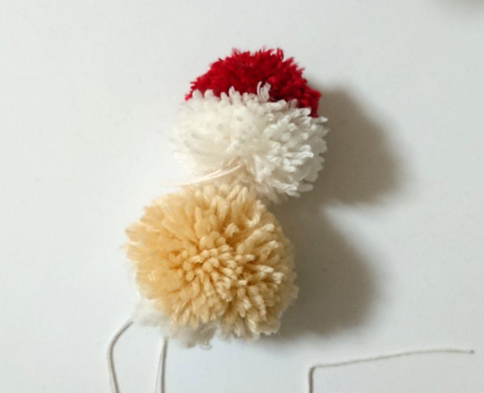 サンタぽんぽん 帽子&頭連結①